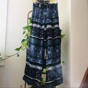 2️⃣for10 Ecote Wide Leg Pants Medium Blue Stretchy